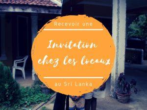 Invitation dans maison au Sri Lanka