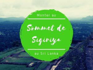 Sommet de Sigiriya au Sri Lanka