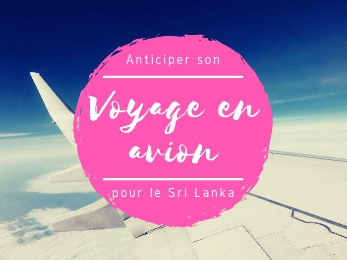 Voyage en avion au Sri Lanka