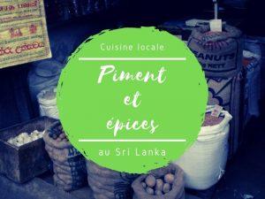 Piment et épices au Sri Lanka