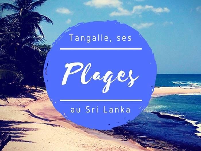 plages de Tangalle au Sri Lanka