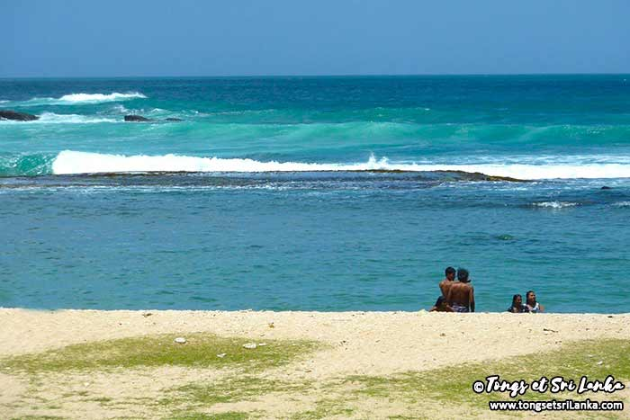 navy beach ou corail beach à tangalle au sri lanka