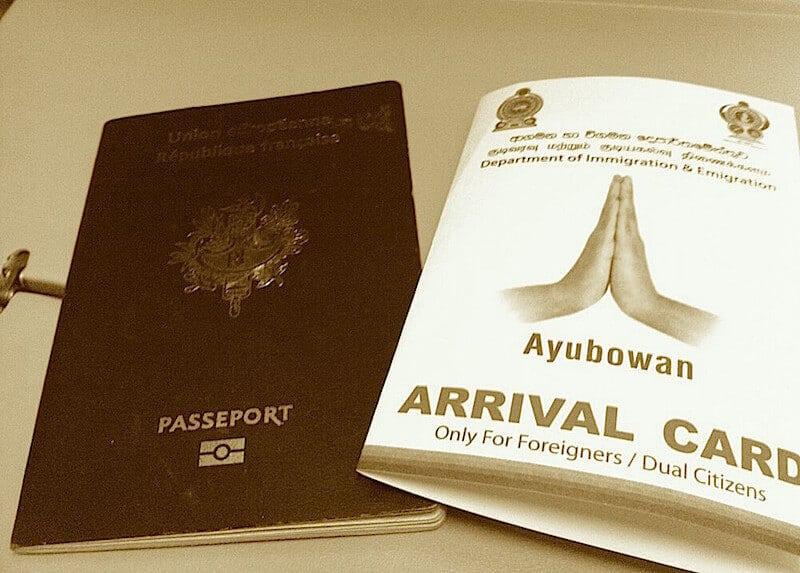 Les formalités (et piège à éviter !!) pour entrer au Sri Lanka