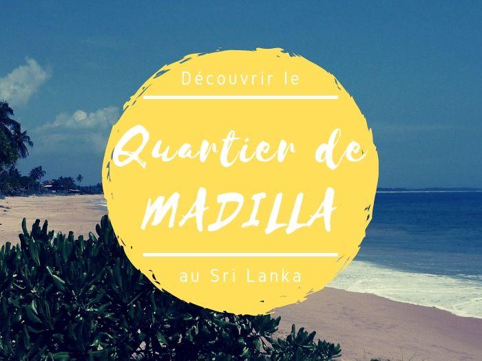 Quartier de Madilla à Tangalle au Sri Lanka