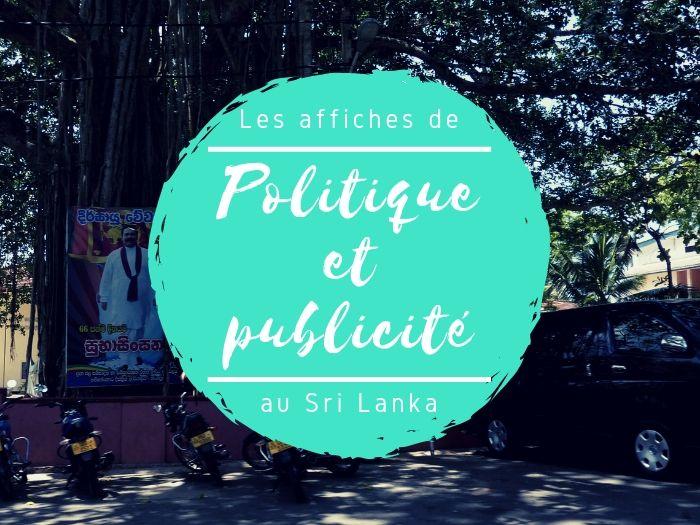 Publicité et politique dans la rue au Sri Lanka