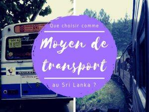 Les moyens de transport au Sri Lanka