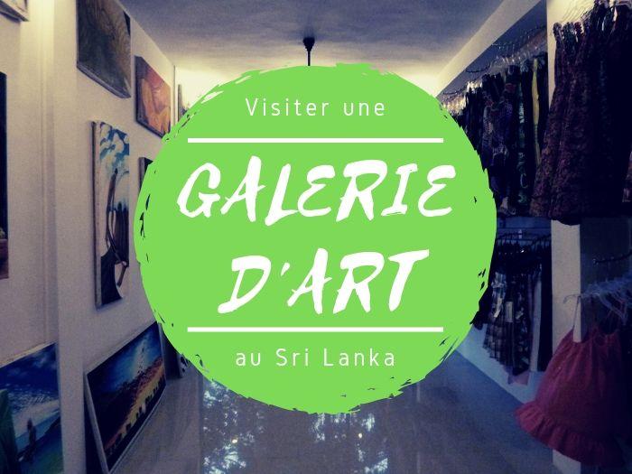 Galerie d'art à Arugam Bay au Sri Lanka