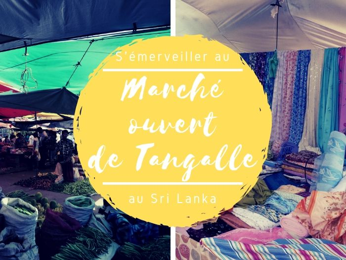 Le marché ouvert de Tangalle au Sri Lanka