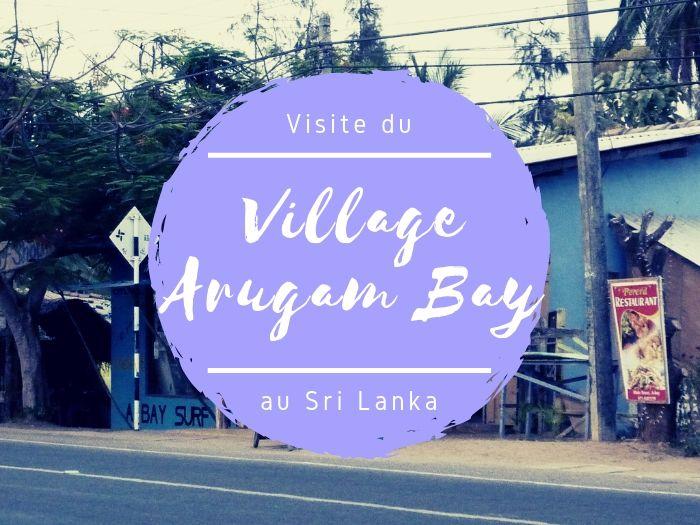 Le village d'Arugam Bay au Sri Lanka