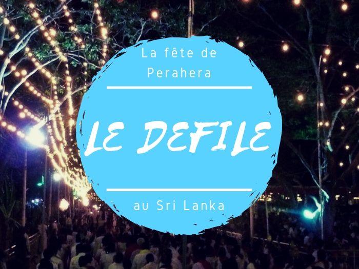 Fête de Perahera le défilé au Sri Lanka