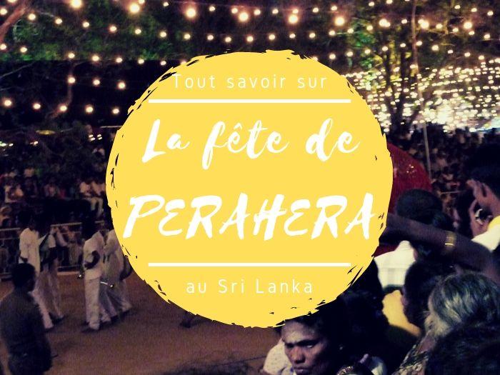 La fête de Perahera au Sri Lanka