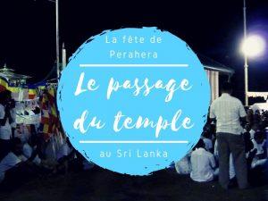 Fête de Perahera le passage du temple au Sri Lanka