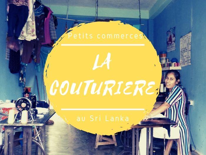 Petits commerces la couturière au Sri Lanka
