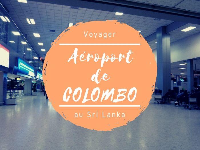 Aéroport de Colombo au Sri Lanka