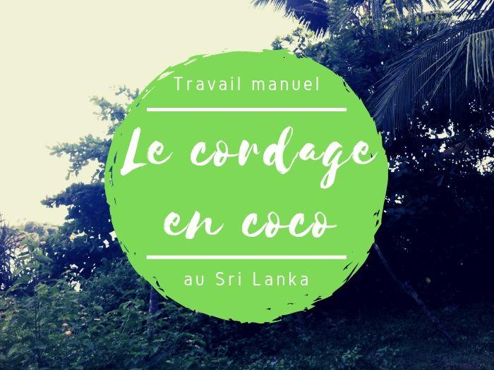 Travail manuel cordage noix de coco au Sri Lanka