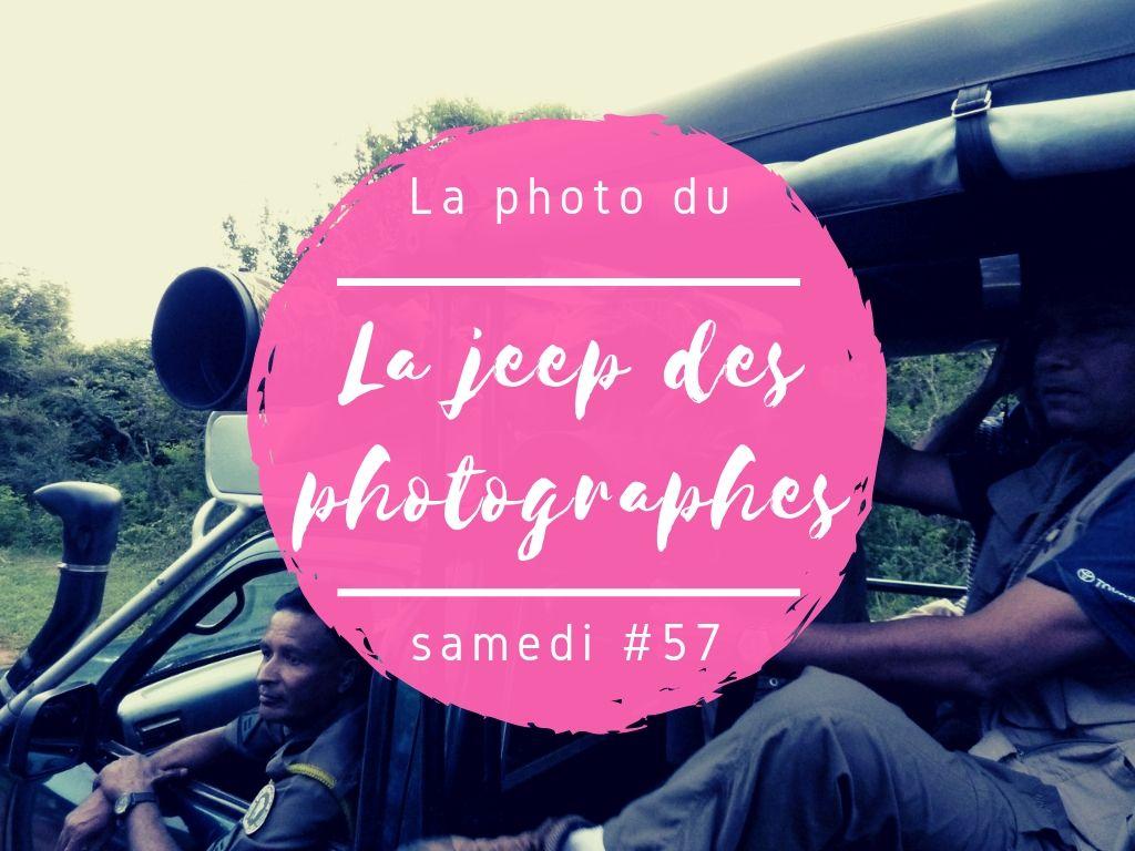 Photo du samedi la Jeep des photographes au Sri Lanka