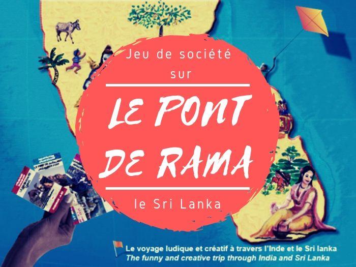 Jeu de société Pont de Rama sur le Sri Lanka
