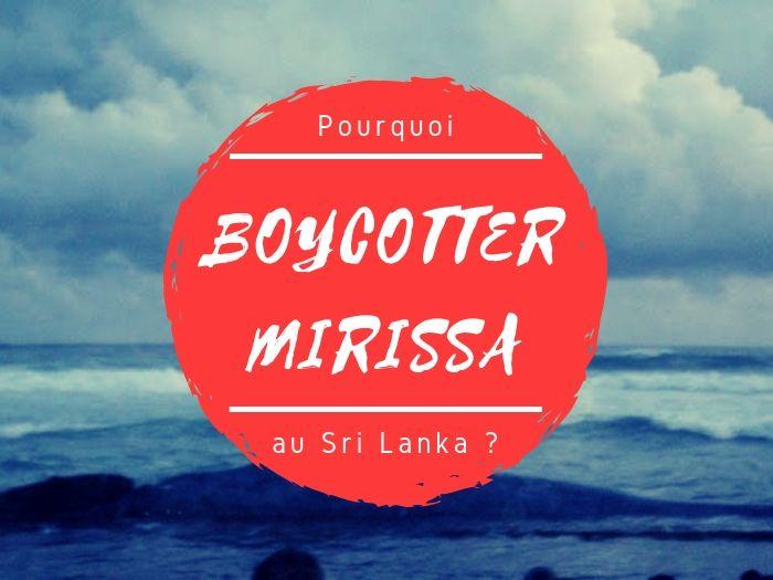 Boycotter Mirissa et les chasses aux baleines et dauphins au Sri Lanka