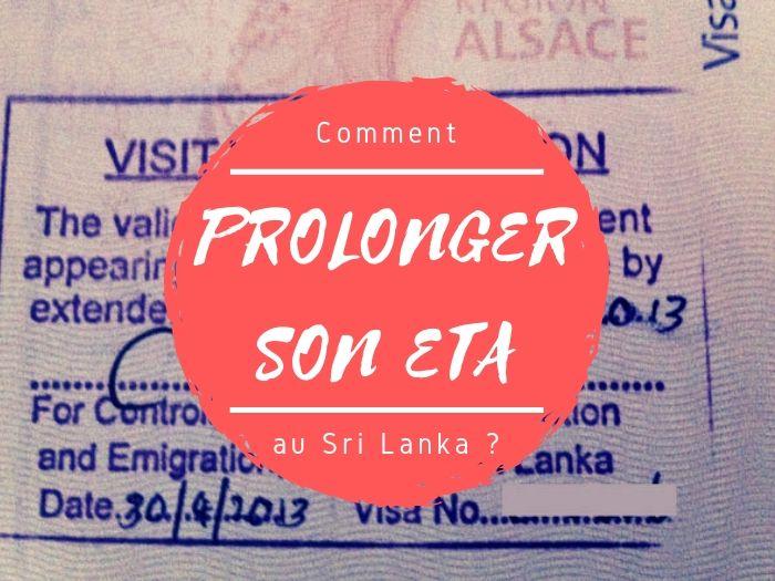 Prolonger son ETA en visa au Sri Lanka
