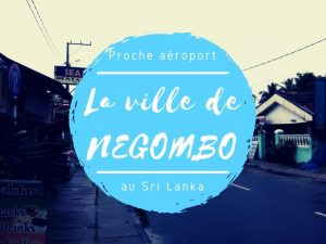 La ville de Negombo au Sri Lanka