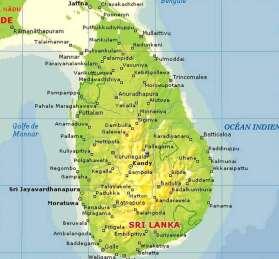 carte du Sri Lanka