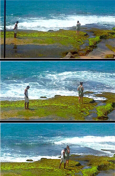 Approche dun beach boy au Sri Lanka