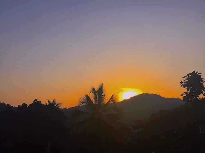 coucher de soleil au sri lanka