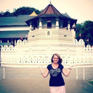 Souvenir du temple de la Dent  Kandy au Srihellip