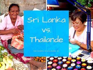 Comparaison entre la Thaïlande et le Sri Lanka
