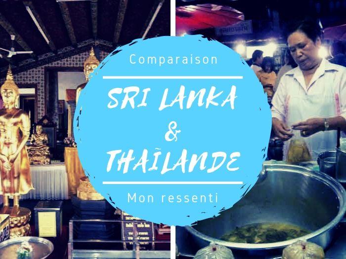 Comparaison entre Thaïlande et Sri Lanka