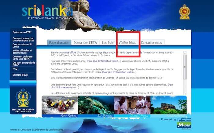 ETA Sri Lanka Verification