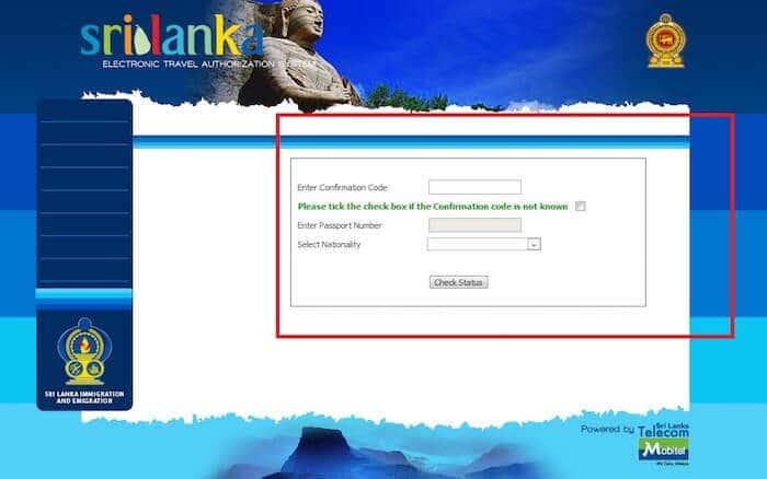 ETA Sri Lanka Verification