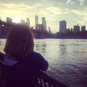 Quand le soleil se couche sur le pont de Brooklynhellip