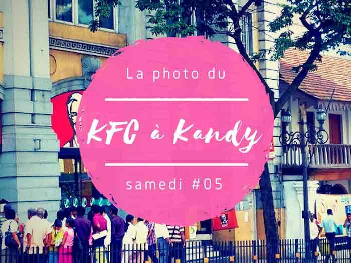 KFC au Sri Lanka à Kandy dans la photo du samedi
