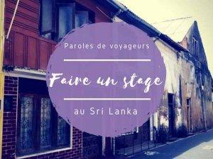 Tongs et Sri Lanka- Stage au Sri-Lanka - Stage au Sri Lanka
