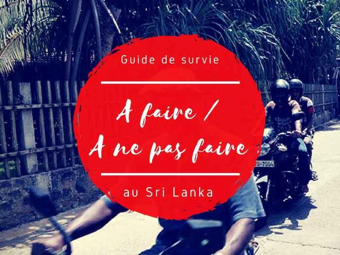 A faire et a ne pas faire au Sri Lanka par Tongs et Sri Lanka