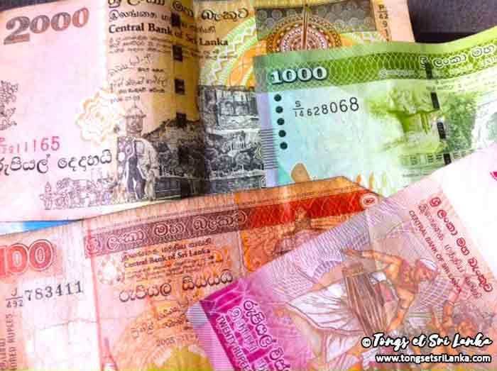 Astuce sur l'argent au Sri Lanka pendant son voyage par Tongs et Sri Lanka