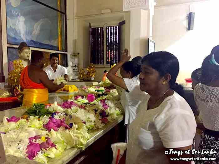 Cérémonie du Bodhi tree à Anuradhapura