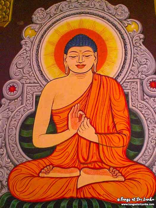 Fresque Bouddha au Sri Lanka par Tongs et Sri Lanka