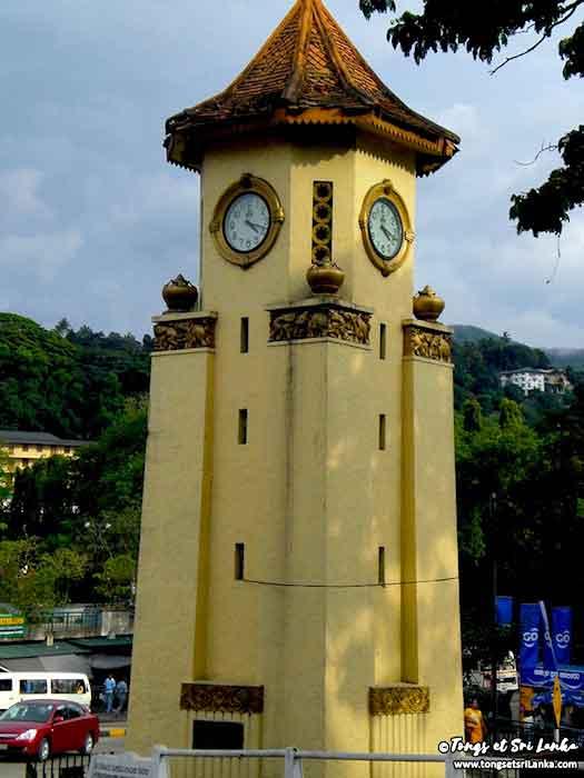 horloge de la ville au Sri Lanka