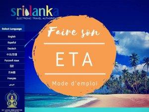 mode d'emploi pour eta au Sri Lanka par Tongs et Sri Lanka