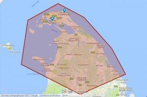 Carte du Nord du Sri Lanka