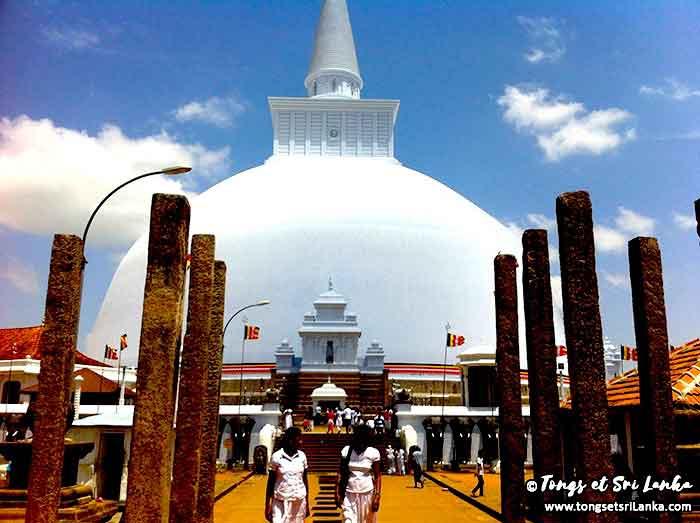 Temples à Anuradhapura au Sri Lanka