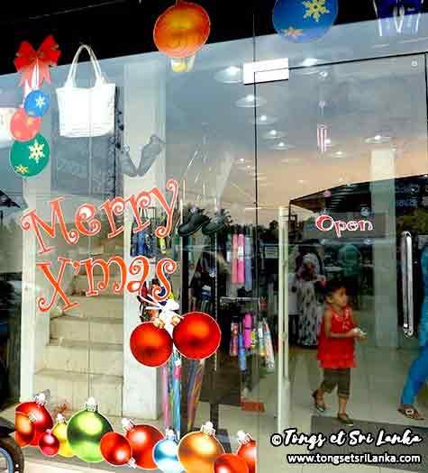 vitrines de Noël au Sri Lanka