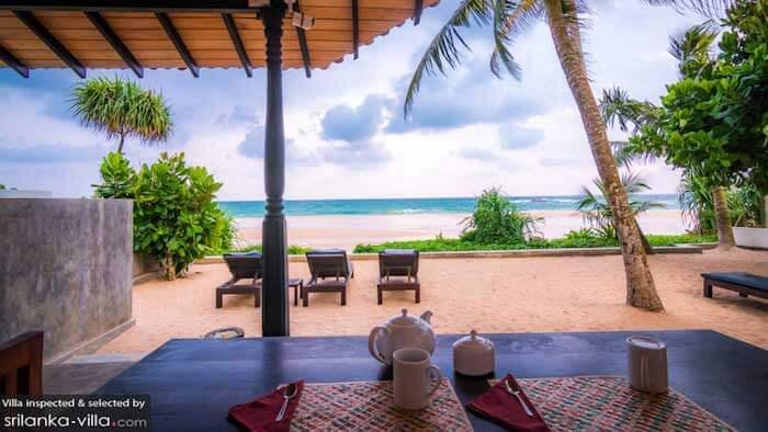 Blue parrot beach villa au Sri Lanka
