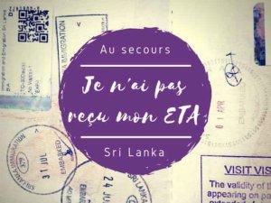 confirmation de l'ETA pour le Sri Lanka