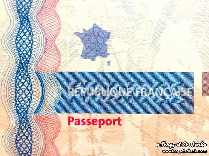 passeport francais pour voyager au Sri Lanka