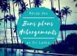 Hébergements au Sri Lanka – Récap' de tous les bons plans du blog !