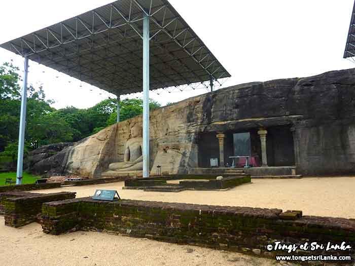site des 4 bouddha géants de Polonnaruwa au Sri Lanka