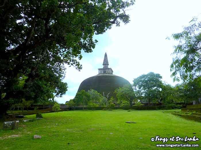 Stupa géant au Sri Lanka à Polonnaruwa